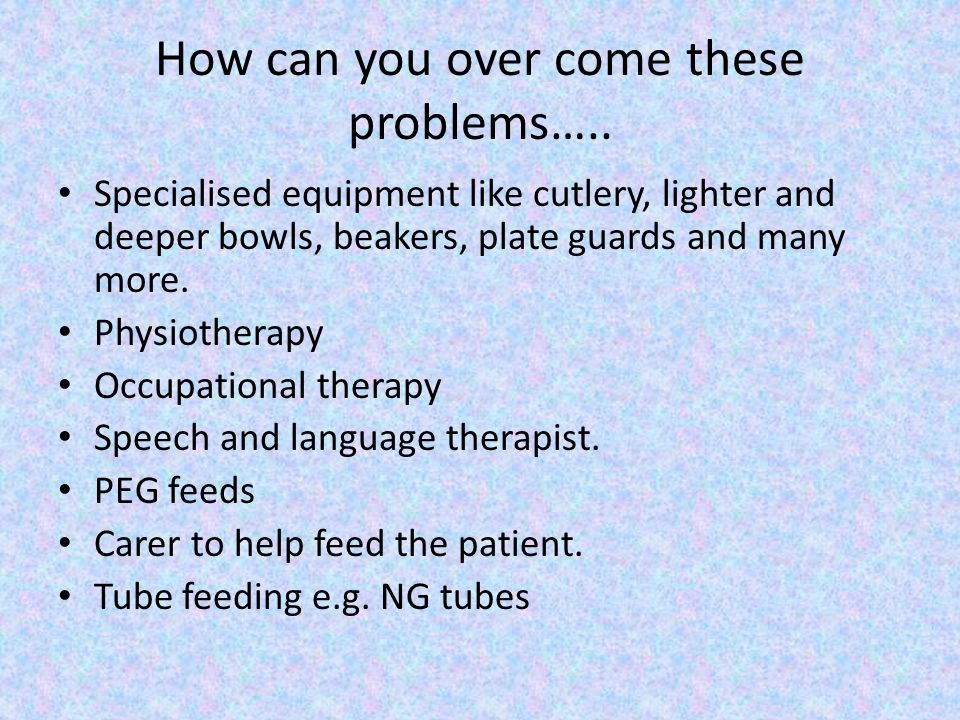 How can you over come these problems…..