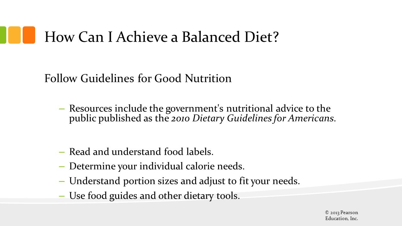 How Can I Achieve a Balanced Diet