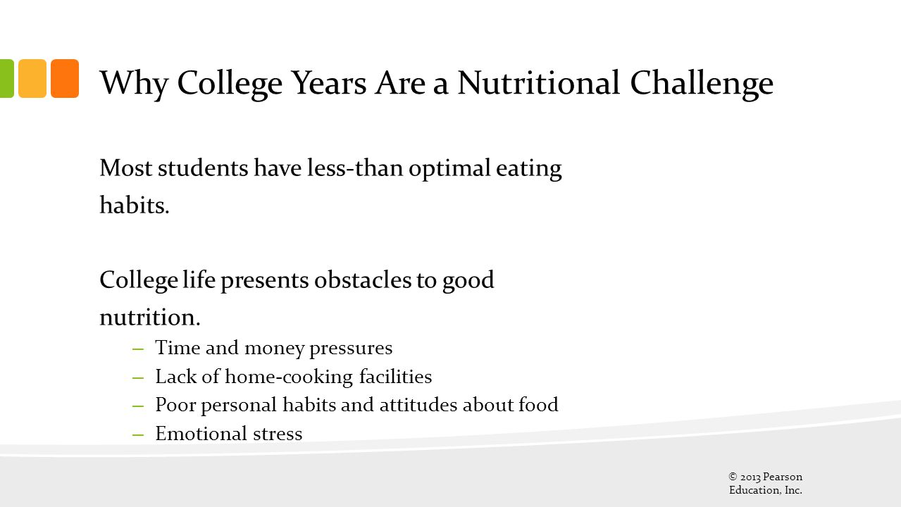 Why College Years Are a Nutritional Challenge