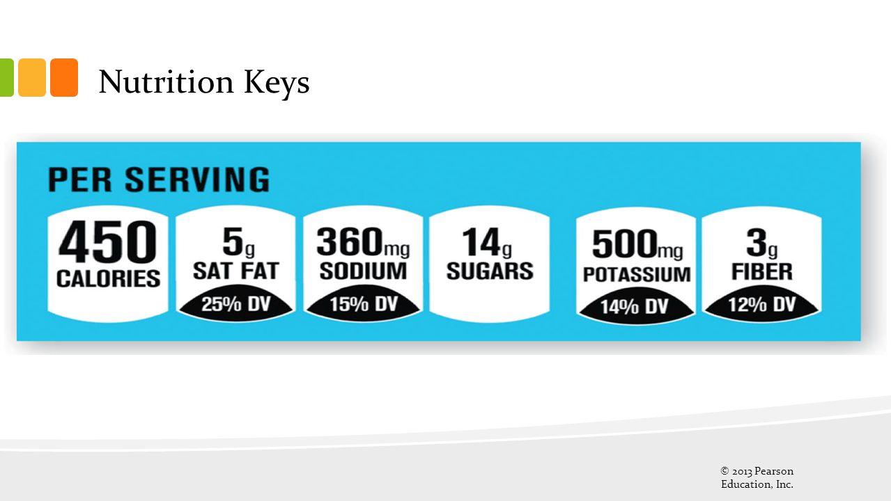 Nutrition Keys © 2013 Pearson Education, Inc. 31