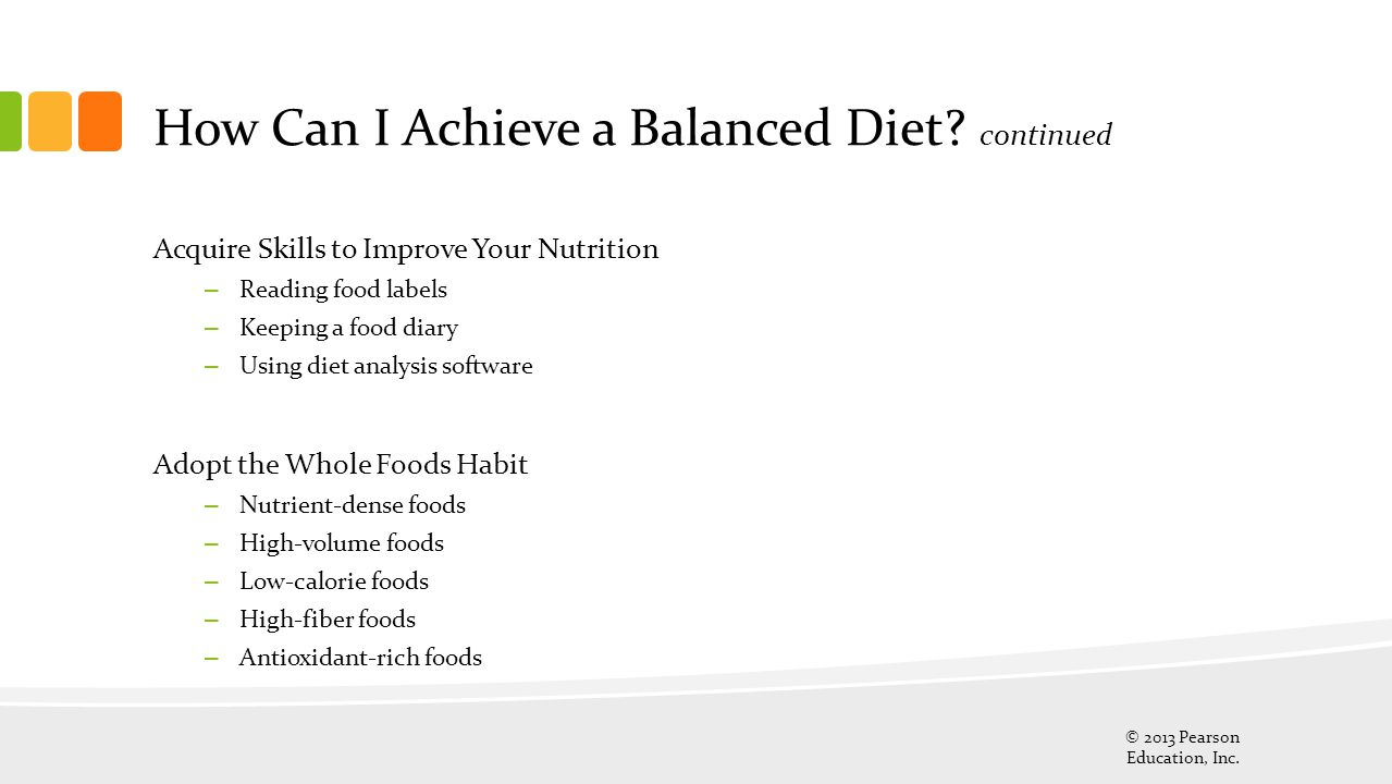 How Can I Achieve a Balanced Diet continued