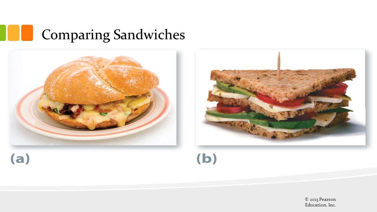 Comparing Sandwiches © 2013 Pearson Education, Inc.
