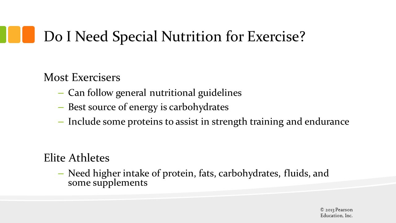Do I Need Special Nutrition for Exercise