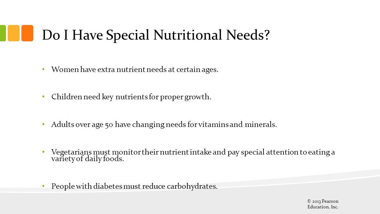 Do I Have Special Nutritional Needs
