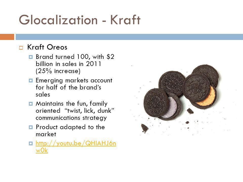 Glocalization - Kraft Kraft Oreos