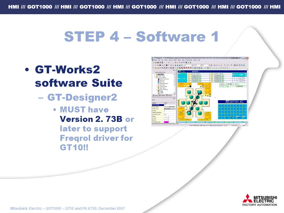 STEP 4 – Software 1 GT-Works2 software Suite GT-Designer2