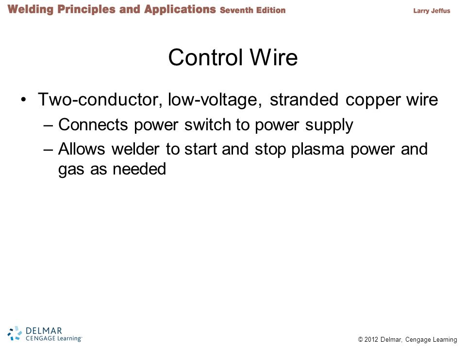 Control Wire Two-conductor, low-voltage, stranded copper wire