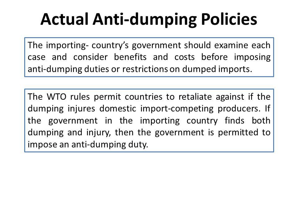 Actual Anti-dumping Policies