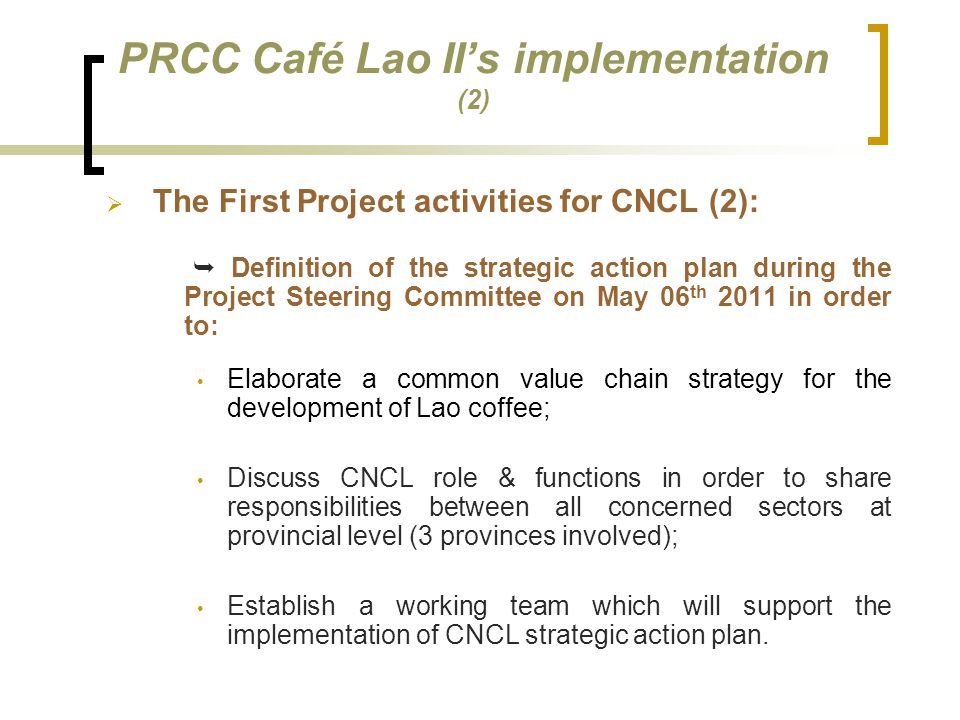 PRCC Café Lao II's implementation (2)