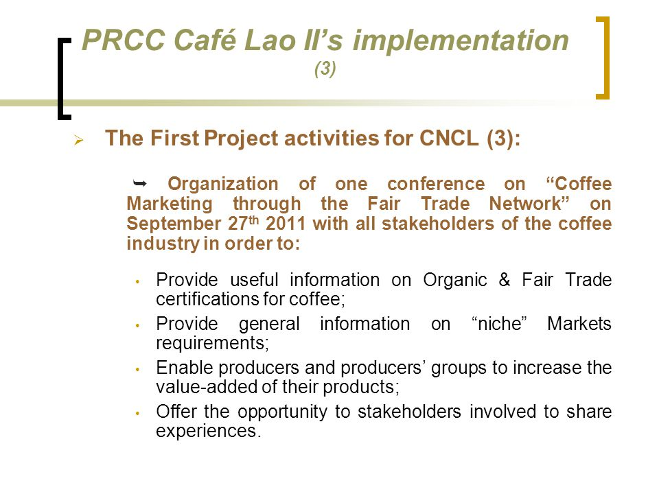 PRCC Café Lao II's implementation (3)