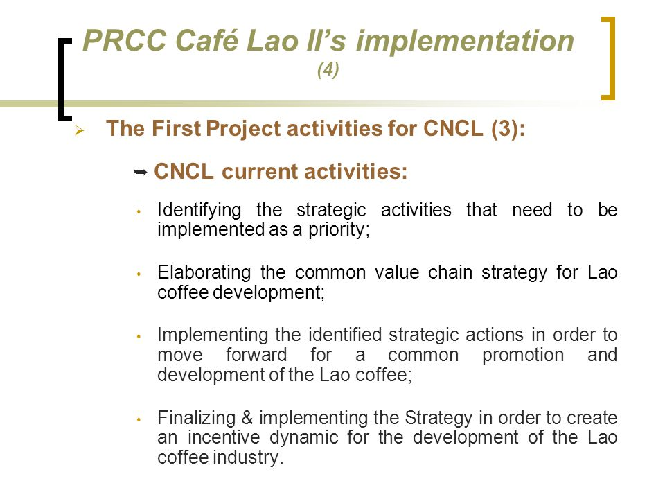PRCC Café Lao II's implementation (4)