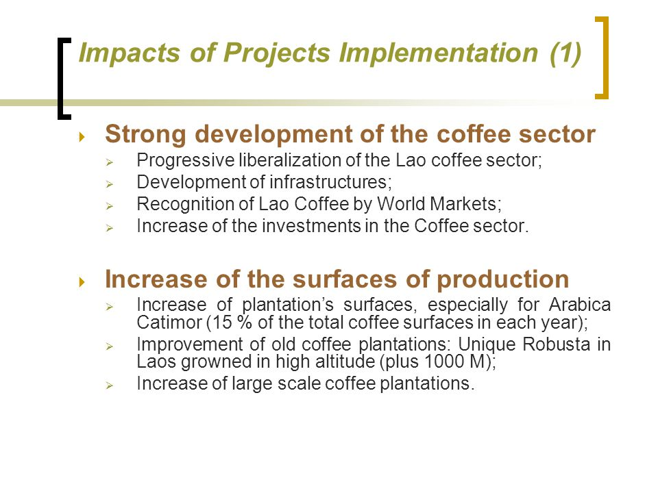Impacts of Projects Implementation (1)