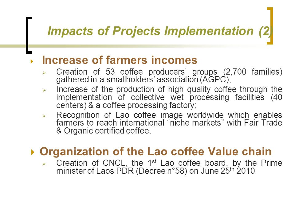 Impacts of Projects Implementation (2)
