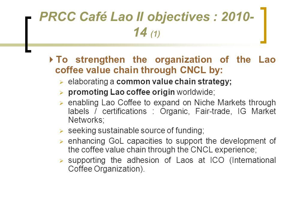 PRCC Café Lao II objectives : 2010-14 (1)