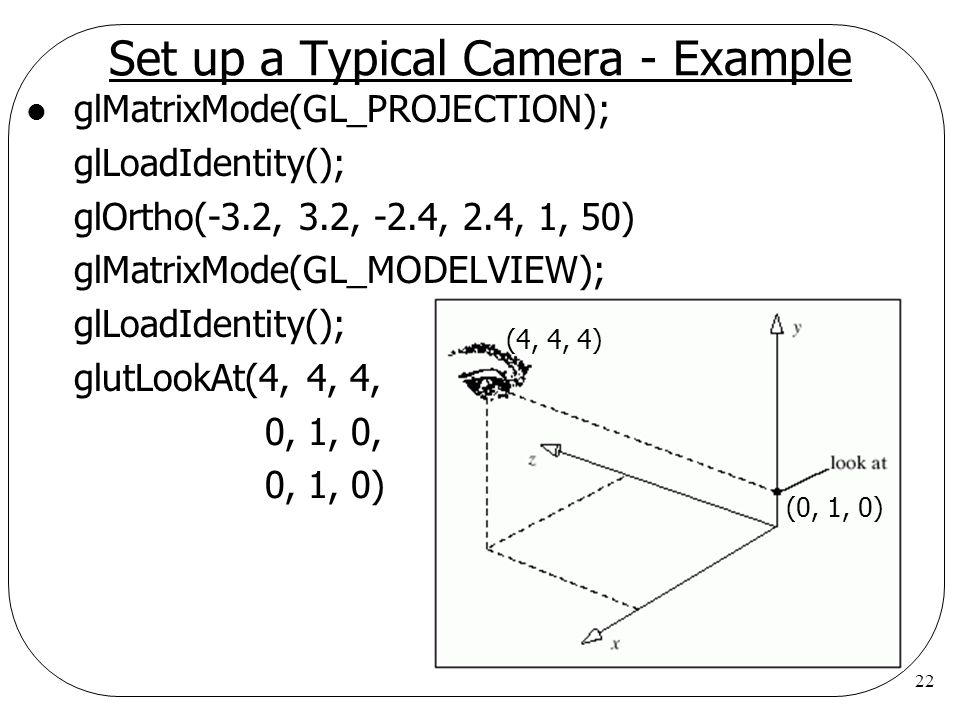 Set up a Typical Camera - Example