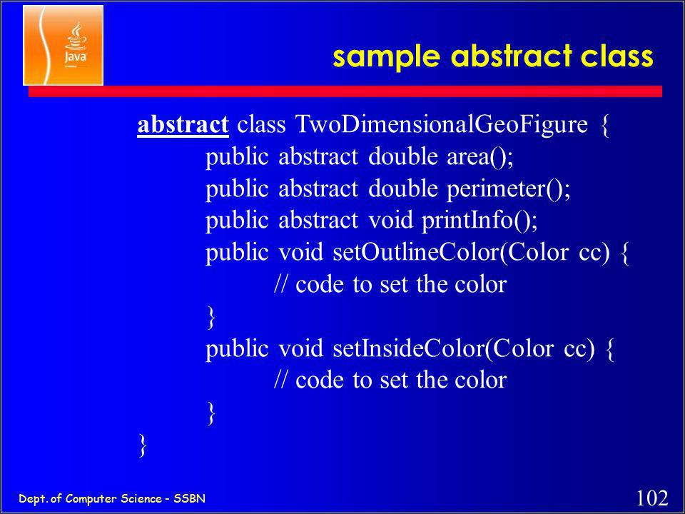 sample abstract class abstract class TwoDimensionalGeoFigure {