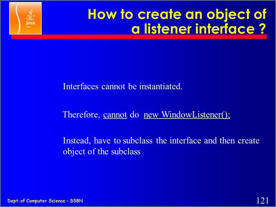How to create an object of a listener interface