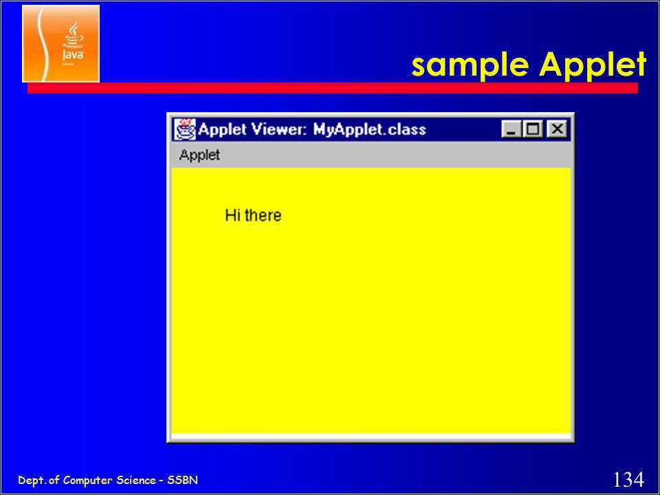 sample Applet