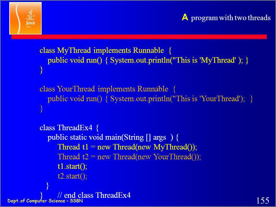 A program with two threads