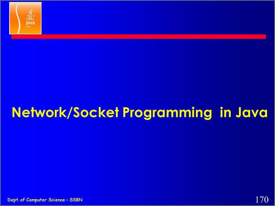 Network/Socket Programming in Java