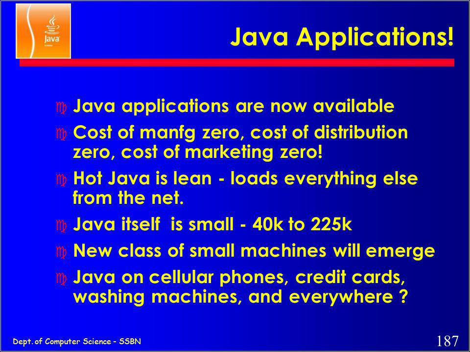 Java Applications! Java applications are now available