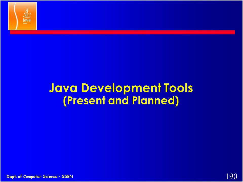 Java Development Tools (Present and Planned)
