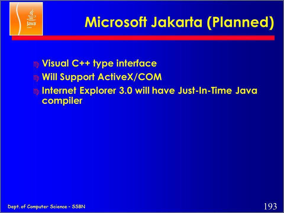 Microsoft Jakarta (Planned)