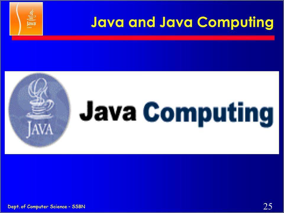 Java and Java Computing