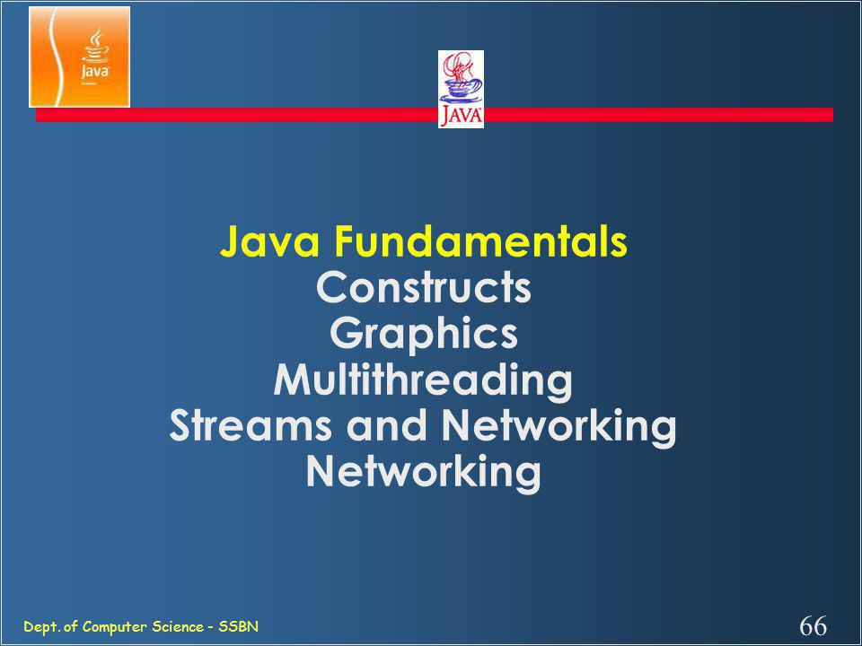 Java Fundamentals Constructs Graphics Multithreading Streams and Networking Networking