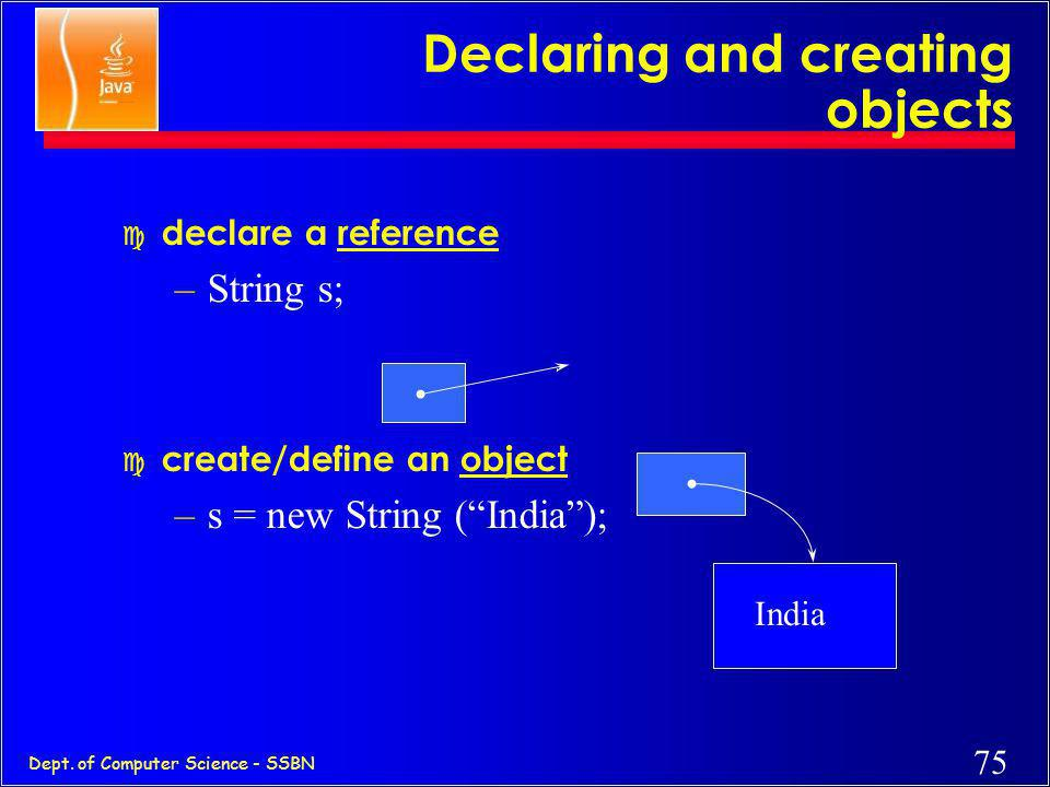 Declaring and creating objects