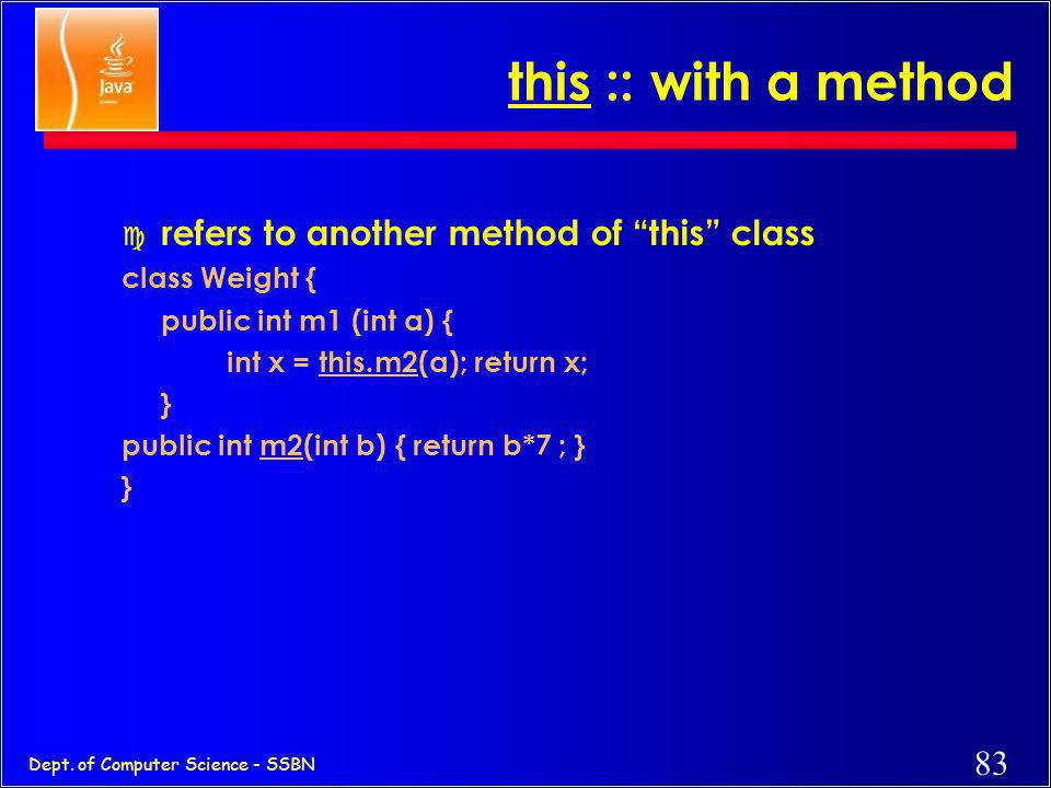 this :: with a method refers to another method of this class