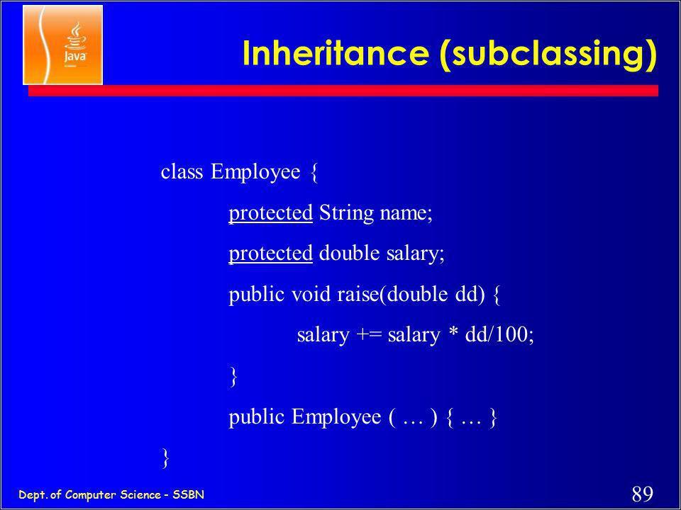 Inheritance (subclassing)