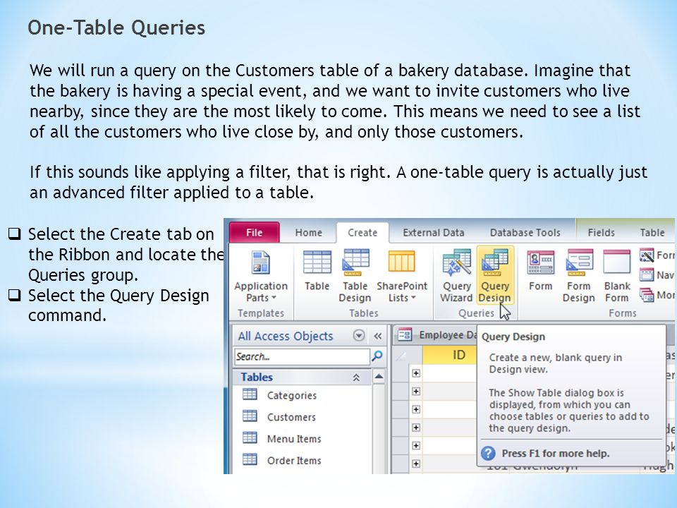 One-Table Queries