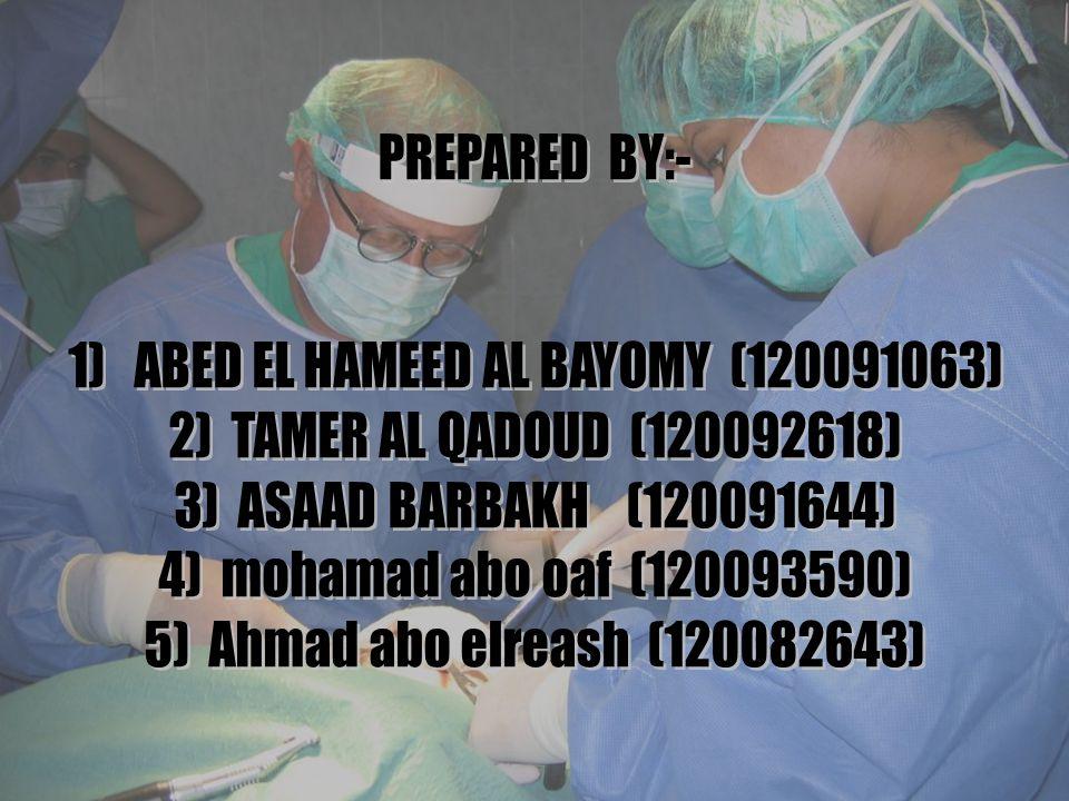 1) ABED EL HAMEED AL BAYOMY (120091063)