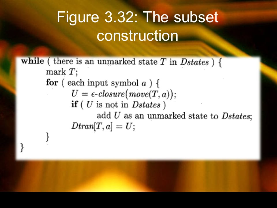 Figure 3.32: The subset construction