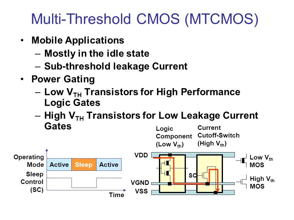 Multi-Threshold CMOS (MTCMOS)