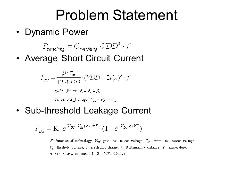 Problem Statement Dynamic Power Average Short Circuit Current