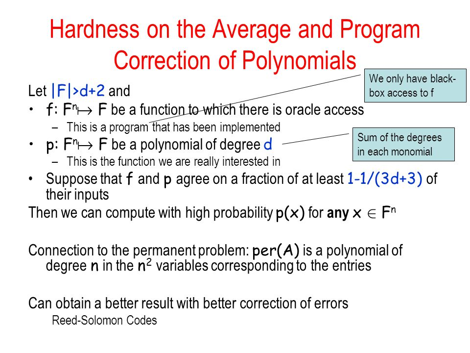 Hardness on the Average and Program Correction of Polynomials