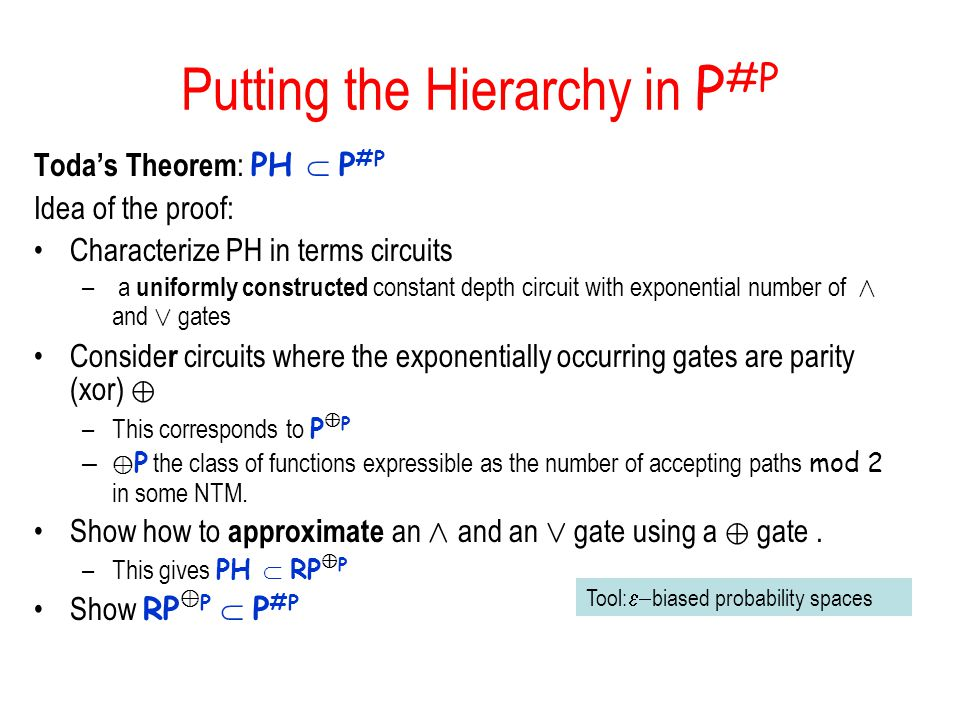 Putting the Hierarchy in P#P