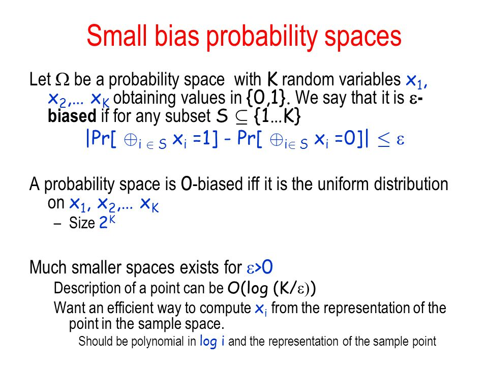 Small bias probability spaces