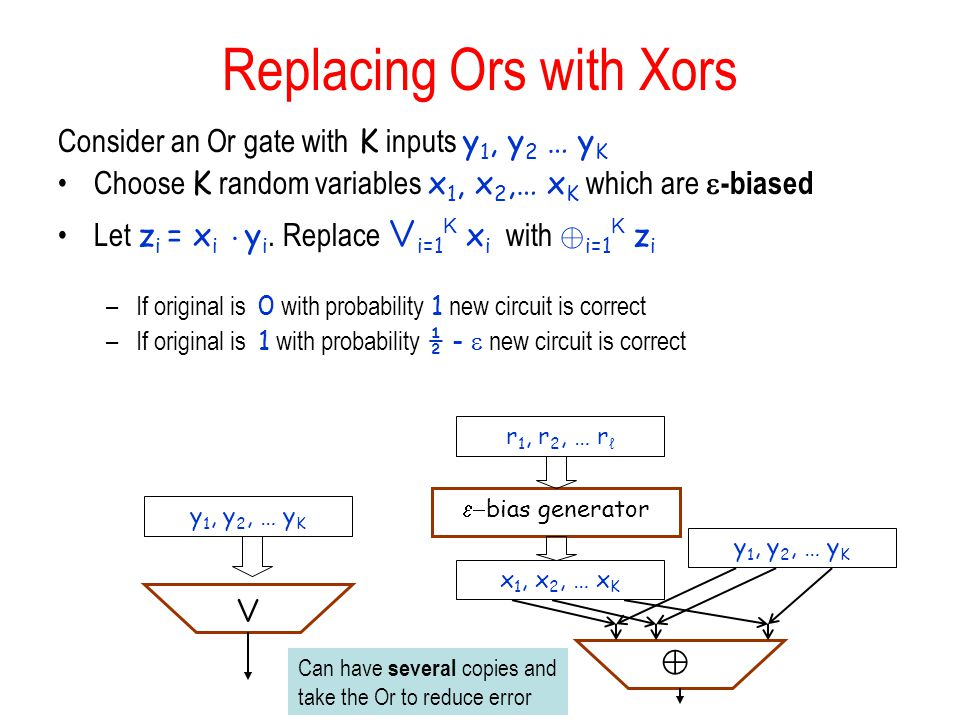 Replacing Ors with Xors