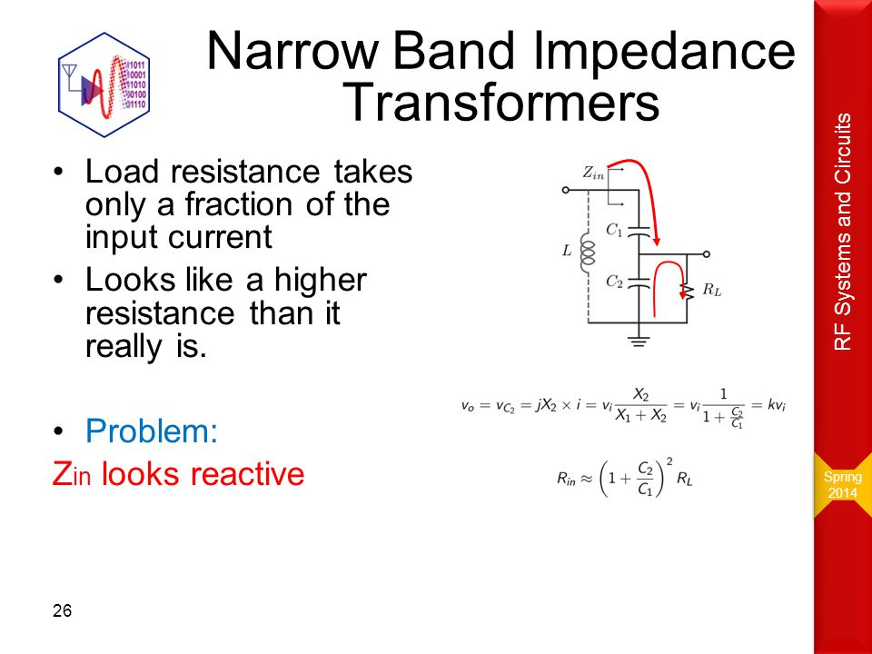 Narrow Band Impedance Transformers