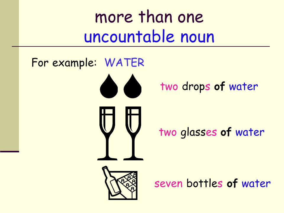 more than one uncountable noun