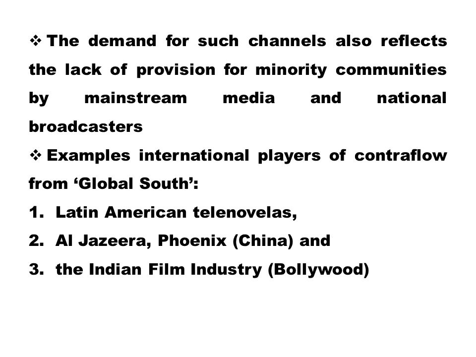 The demand for such channels also reflects the lack of provision for minority communities by mainstream media and national broadcasters