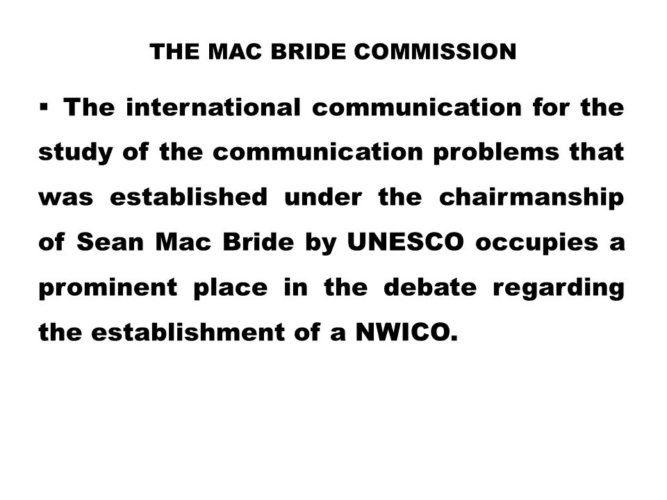 The Mac Bride Commission