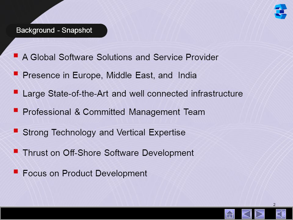 A Global Software Solutions and Service Provider