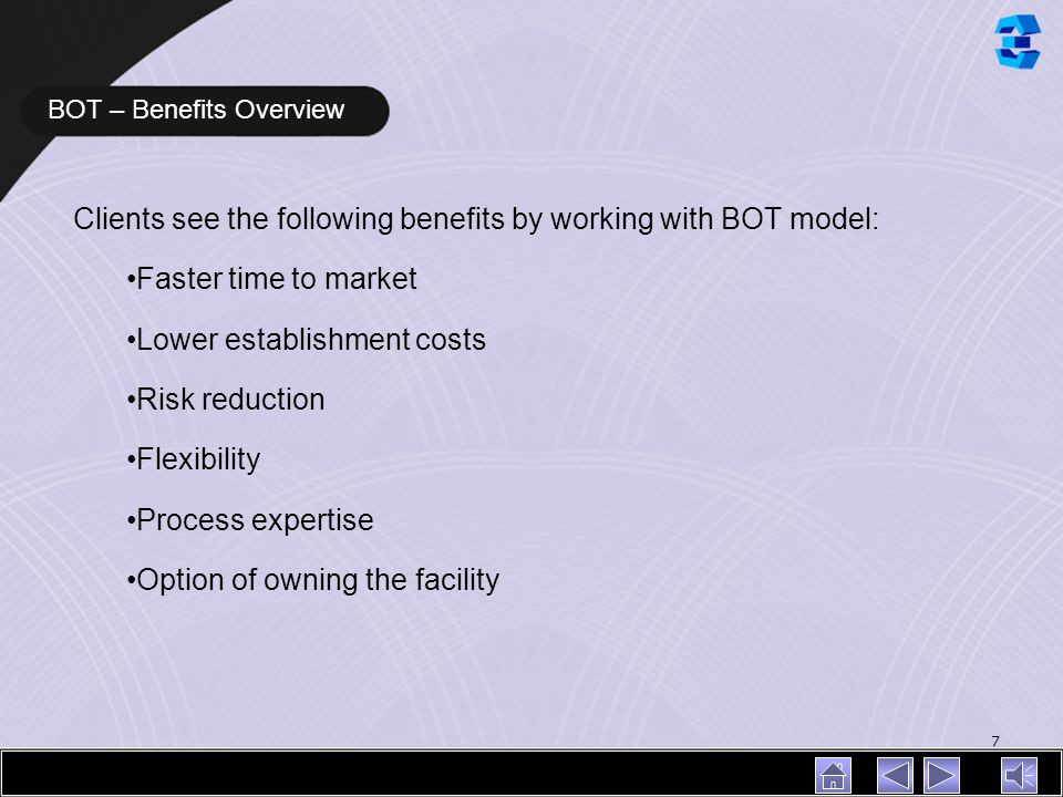 BOT – Benefits Overview