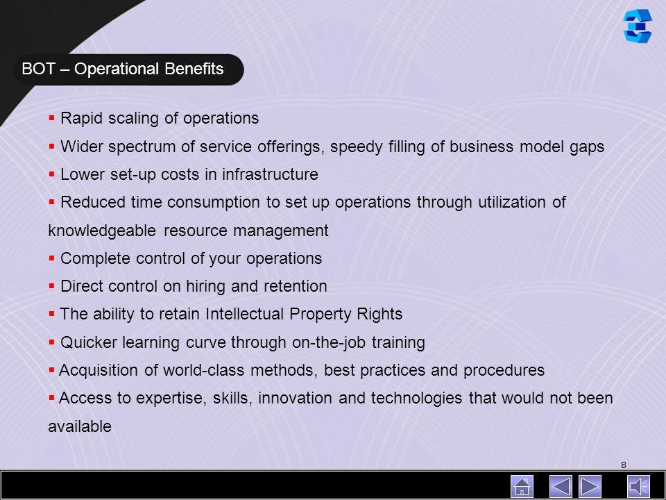 BOT – Operational Benefits