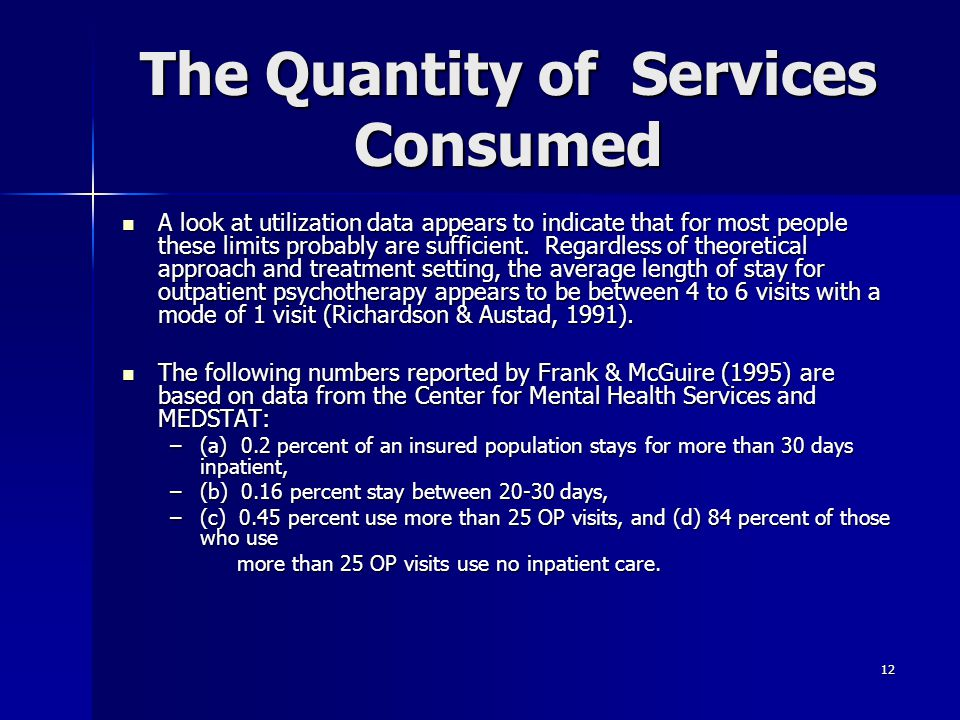 The Quantity of Services Consumed