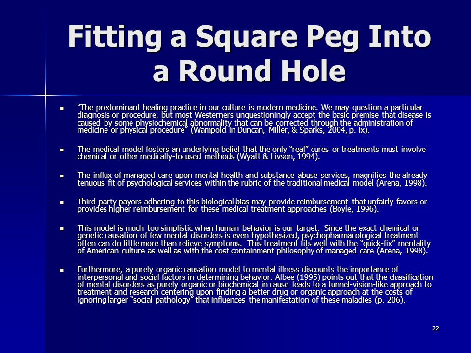 Fitting a Square Peg Into a Round Hole